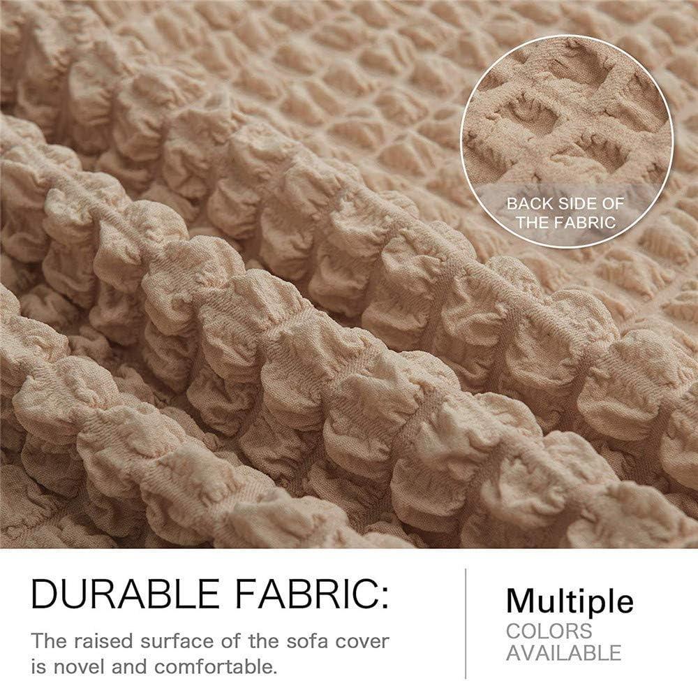 Universele bankhoezen, polyester spandex stof 1 2 3 4-zits hoes bankhoezen, elastische volledig bedekte bankbeschermer, met rok Extra grote bankhoes Meubelhoes beschermer Camel