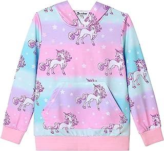 Jxstar Hoodie for Girls Unicorn Sweatshirts Kids Cotton Winter Shirts Tops