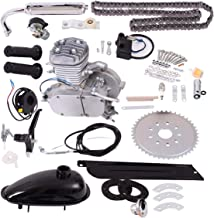 Goplus Bicycle Motor Kit 80cc 2-Stroke Bike Gasoline Motorized Gas Engine Bike Motor Kit (Silver)