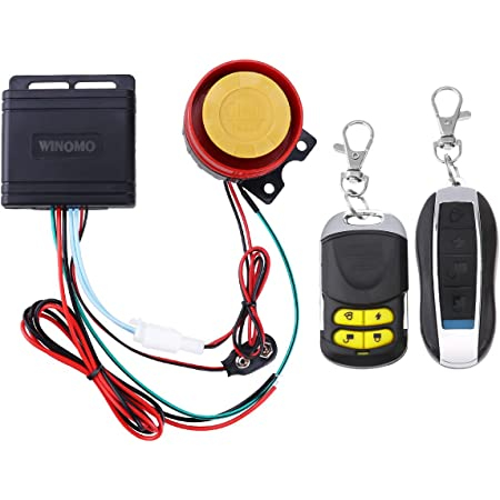 Functioned with Remote Control Engine Push Start//Stop Motorcycle Security Alarm System 12V with 125dB Super Sound and Flashing Lights Warning Tosuny Bike Alarm Lock