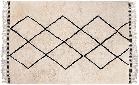 SukhiSukhi Aicha: Marroquí de Beni Ouarain de Alta Pila de Lana Alfombra de Las montañas del Atlas con el Modelo de Diamond Compra Online (300cm x 400cm / 9' 10.1'' x 13' 1.4'')