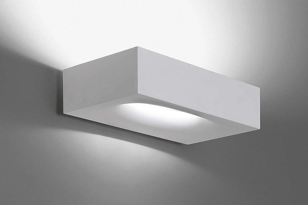 Artemide melete, lampada da parete led, in alluminio 1633010A