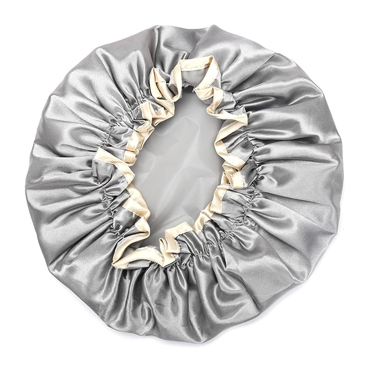 ルーム結婚する地球Hitchlike シャワーキャップ ヘアキャップ ヘアーキャップ ヘアーターバン 入浴キャップ 帽子 お風呂、シャワー用に 浴用帽子 便利 女性の弾性の防水入浴シャワーキャップ再使用可能なサロンの髪を保護する帽子