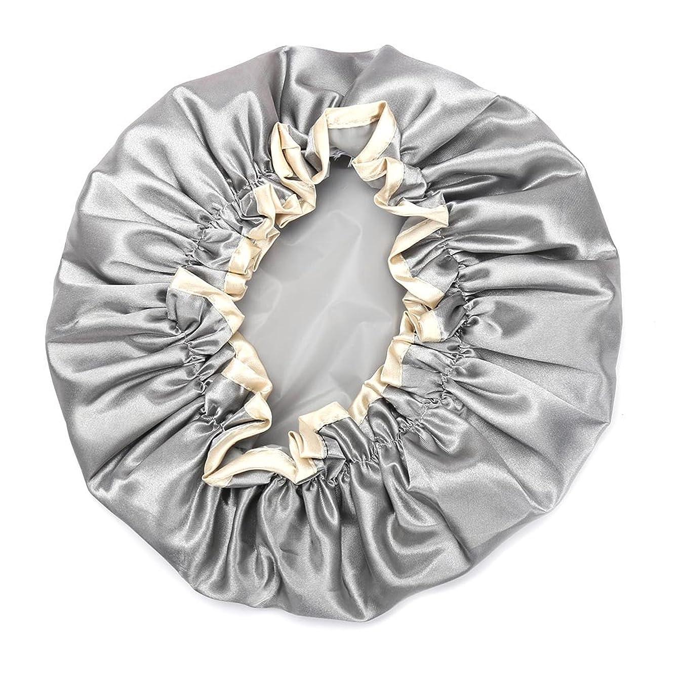 トリッキー豚肉変換するHitchlike シャワーキャップ ヘアキャップ ヘアーキャップ ヘアーターバン 入浴キャップ 帽子 お風呂、シャワー用に 浴用帽子 便利 女性の弾性の防水入浴シャワーキャップ再使用可能なサロンの髪を保護する帽子