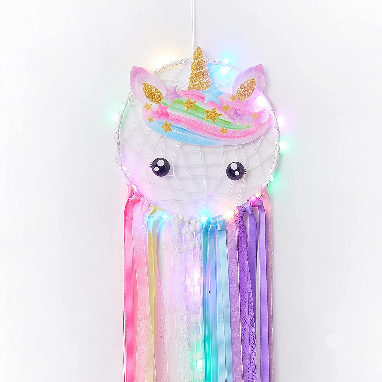 Same day shipping Fancy Daisy Dream Catcher for Led Girls Catchers Max 51% OFF Deco Wall