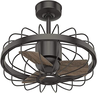 """Hunter Fan Company 50797 Roswell Indoor Ceiling Fan with Wall Control, 16"""", Noble Bronze Finish"""