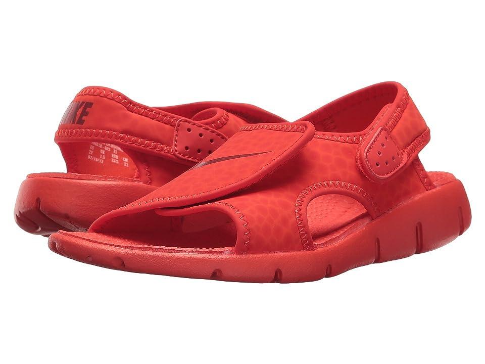 Nike Kids Sunray Adjust 4 (Little Kid/Big Kid) (Habanero Red/Gym Red/Habanero Red) Boys Shoes