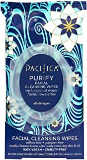 Pacifica Beauty Purify Coconut Water Cleansing Wipes, 30 count
