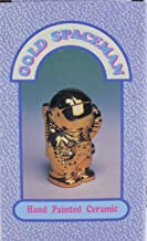 1990 Spaceman Gold Colored Ceramic Coin Bank
