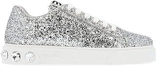 Luxury Fashion | Miu Miu Women 5E643CFD0053ADFF0118 Silver Leather Sneakers | Autumn-winter 19