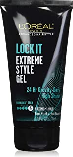 L'Oreal Paris Lock It Extreme Style Gel, 5.1 Ounce (2 Pack)