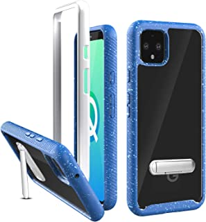 Ferilinso Case for Google Pixel 4 Case,Air Hybrid Crystal Clear Case TPU Bumper with Rigid PC Back Cover & Kickstand Feature [Without Built-in Screen Protector] for Google Pixel 4-Blue