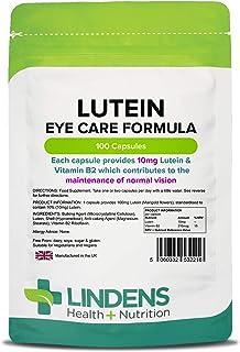 Lindens Lutein 10 mg Ringelblumenextrakt Kapseln | 100 Verpackung | Standardisierter, hochdosierter Extrakt. Leicht einzunehmende Kapsel, die die Wirkstoffe schnell freisetzt