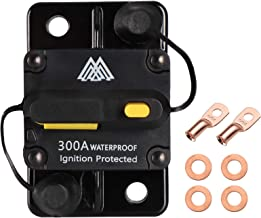 WINOMO 300 Amp Gfci Circuit Breaker DC 12-24v with Manual Reset Motor Auto Car Marine Boat Bike Stereo Audio Inline Fuse Inverter