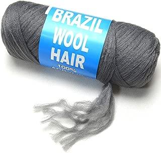BLUPLE Brazilian Wool Hair 1 Roll Dark Grey Acrylic Yarn for African Hair Braiding Sengalese Twisting Jumbo Braids/Crochet Faux Locs/Wraps/Dreadlocks (1Roll, Dark Grey)