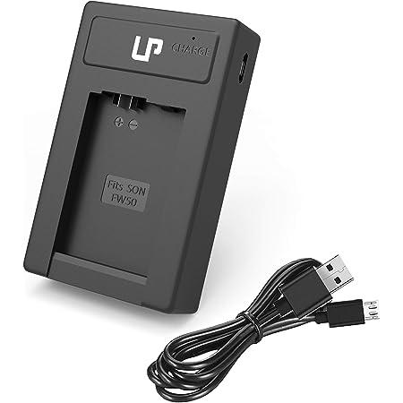 LP NP-FW50 急速充電器 USBチャージャー Sony Alpha A3000, A5000, A5100, A6000, A6300, A6400, A6500, A7, A7II, A7S, A7SII, A7R, A7RII, SLT-A33, A35, A37, A55, RX10, RX10II, RX10 III, RX10 IV, NEX-3/5/7 シリーズ など対応