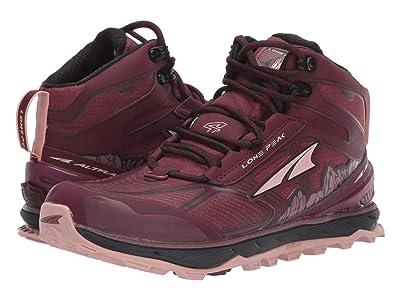 Altra Footwear Lone Peak 4 Mid RSM (Dark Port/Light Rose) Women