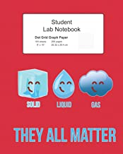 Student Science Lab Notebook Solid Liquid Gas They All Matter: Log Book Journal Dot Grid Composition, 200 Pages 100 Sheets, Large 8