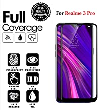 JGDWORLD HD Crystal Clear 11D Full Glue Edge to Edge Tempered Glass Screen Protector for Realme 3 Pro (2019)