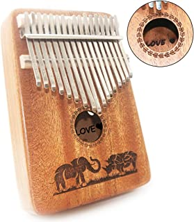 Personalized Unique Birthday Gift Ideas, Best Friend Gifts Top Stocking Stuffer Christmas Gifts, Kalimba 17 Key Thumb Piano Musical Instrument Gift Finger Piano Mbira with Study Guide