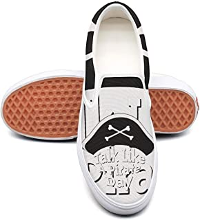 Unnnxsqqa Leopard Skin and Flowers Pattern Cool Skate Sneakers Slip-on Shoes