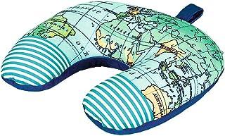 Cojín 3 en 1 de Fernweh para Viajes, Almohada Cervical, Almohada Cervical y Almohada de Viaje en uno, Almohada Multifuncional para Viajes, mapamundi