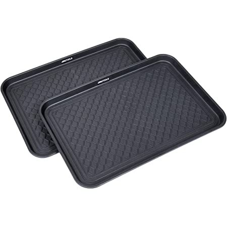 Amazon Com Stalwart 75 St6014 All Weather Boot Tray Water Resistant Plastic Utility Shoe Mat Black Medium 75 St6013 All Weather Boot Tray Water Resistant Plastic Utility Shoe Mat Black Small Furniture Decor