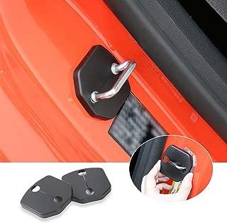 Voodonala for Ford Mustang 2015 2016 ABS Door Lock Striker Buckle Cover Decor Trim 1 Pair