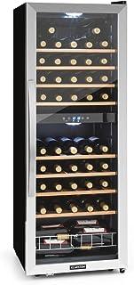 comprar comparacion KLARSTEIN Vinamour - Nevera para vinos, Nevera para Bebidas, Refrigerador gastronomía, 2 Zonas, Iluminación LED, Módulo In...
