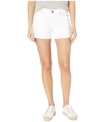 KUT from the Kloth Andrea Shorts Five-Pockets Released Hem in Optic White (Optic White) Women
