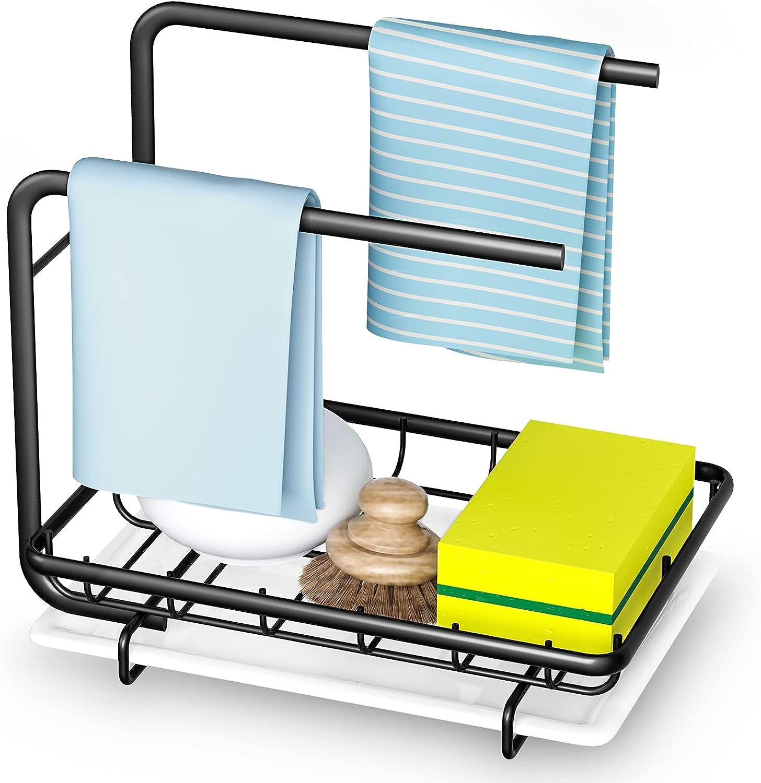 Uponer Organizador de Fregadero de Cocina, Organizador Sink Caddy Soporte para Utensilios de Cocina Adhesivo para Utensilios de Cocina para el Fregadero Soporte
