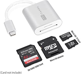 USB-C SD Card Reader,ITD ITANDA Aluminum Superspeed Micro SD/TF USB Type C Card Reader Compatible for MacBook Pro/Air/iMac 17/18/19,Surface Book, DELL Venue Pro,Yoga 900S,Chromebook