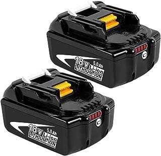 Boetpcr 2x BL1850B 18V 5.0 Ah batería de Herramienta Eléctrica Batería Repuesto para Makita BL1850B BL1850 BL1840 BL1830 BL1815 194205-3 LXT-400 Li-ion con Indicador