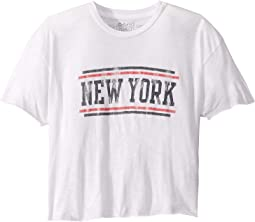 Vintage Slub Cotton Raw Edge New York Tee (Big Kids)