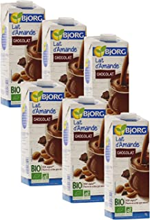 Bjorg Lait d'Amande Chocolat Bio - 100% végétal - Pauvre en acides gras saturés - 1 L - Lot de 6
