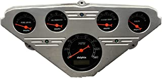 Dolphin Gauges 1955 1956 1957 1958 1959 Chevy Truck 5 Gauge Dash Cluster Panel Set Programmable Black