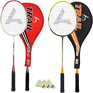 Guru Trail BR06 COMBO-02 Badminton Racket Set Pack of Two With Two Cover & 3 Shuttlecock Size: 27 inch