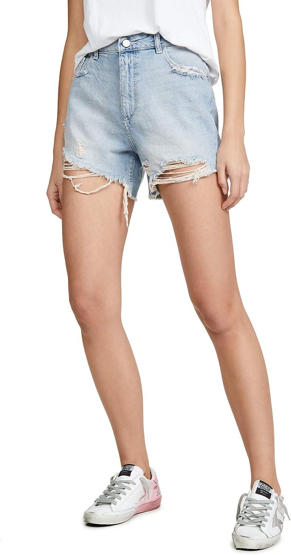 DL1961 Women's Hepburn Shorts High Rise Wide Leg