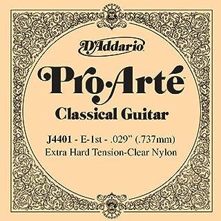 D'Addario Pro-Arte J4401 Première Corde seule en nylon pour guitare classique Très dur