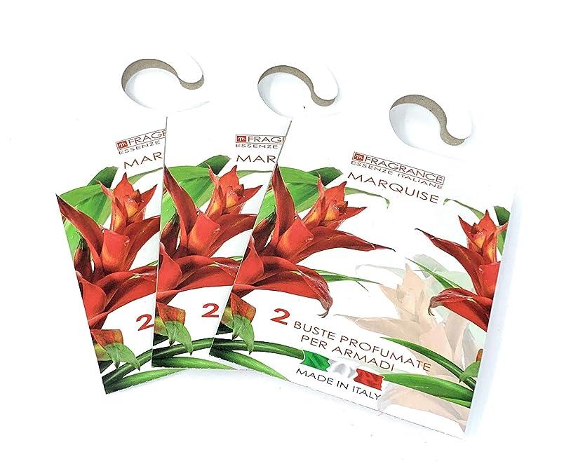 ワゴン邪魔海軍MERCURY ITALY 吊り下げるサシェ(香り袋) FIOREALE イタリア製 マルキーズの香り/MARQUISE 2枚入り×3パック [並行輸入品]