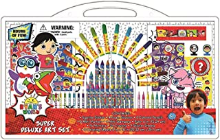 Innovative Designs Nickelodeon Ryan's World Super Deluxe Art Supplies Set w/ Coloring Pages, Stampers, & Stickers