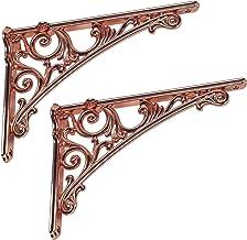 Vintage Plankbeugel, Metalen Driehoekige Plankbeugel, Wandgemonteerde Rekkensteun, Zinklegering, Wandplank Bloemenrek Indu...