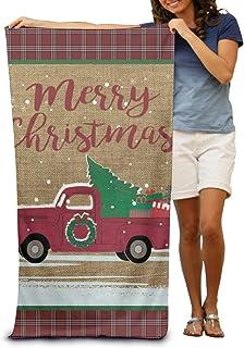 130×80 Cm クリスマストラック ホテルスタイル ビーチマット 折りたたみ 吸水性バスビーチタオル ビーチ プール 海水浴 ビキニ 水着
