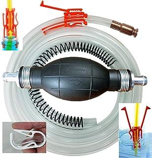 GasTapper Siphon Pump -Pro XL Fuel Hand Pumps for Gas, Diesel & Water w/ 8 Ft Hose, Anti-Kink Spring, Shut off Clip, Jiggl...