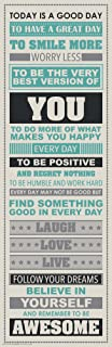 Culturenik Be Awesome Inspirational Motivational Happiness Quotes Decorative Poster Print (12 x 36 in a Tube)