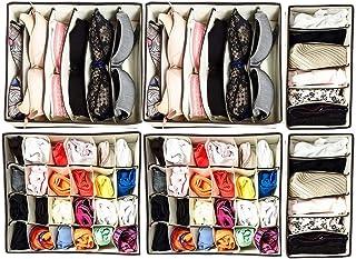 caja de almacenamiento plegable de 24 pliegues 2 unidades organizador de armario Organizador de cajones para calcetines color crema para calcetines ropa interior LZYMSZ