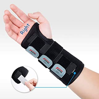 Featol Adjustable Wrist Support Brace with Splints for Carpal Tunnel, Injuries,Wrist Pain, Sprain