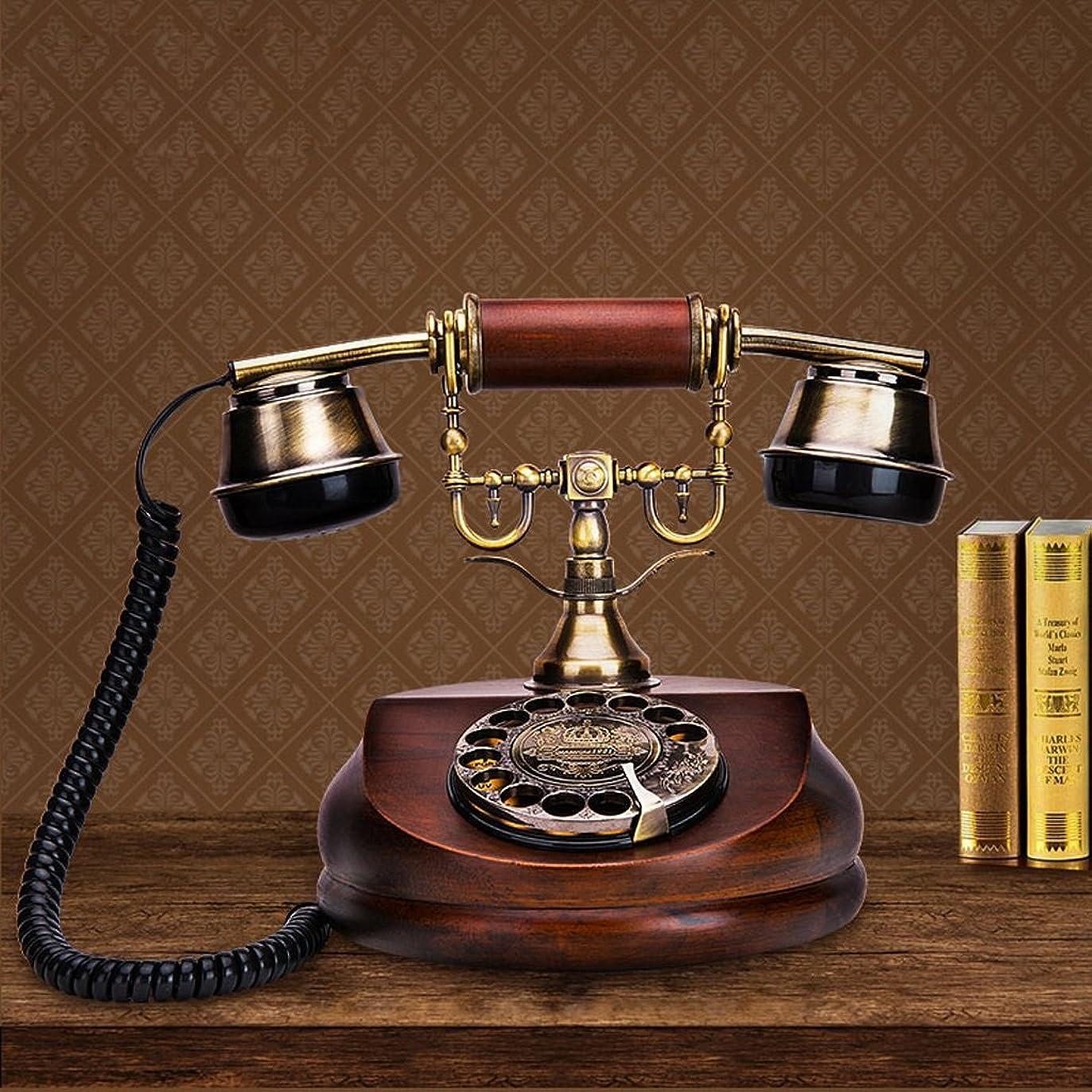 洗剤め言葉スチールLvhayon 電話 ヨーロピアンスタイルのアンティーク電話ローテーションレトロなオフィスホーム固定電話のアメリカのファッションクリエイティブは電話木を修正しました。