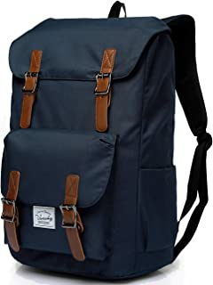 Vaschy Water-Resistant Hiking Daypack Travel School Backpack Fits 15.6in Laptop Blue