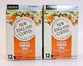 New England Coffee Pumpkin Spice K-cups, 12 Count (Pack of 2)